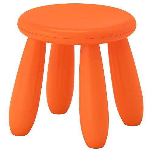 IKEA Mammut - Taburete para niños, interior/exterior, color naranja