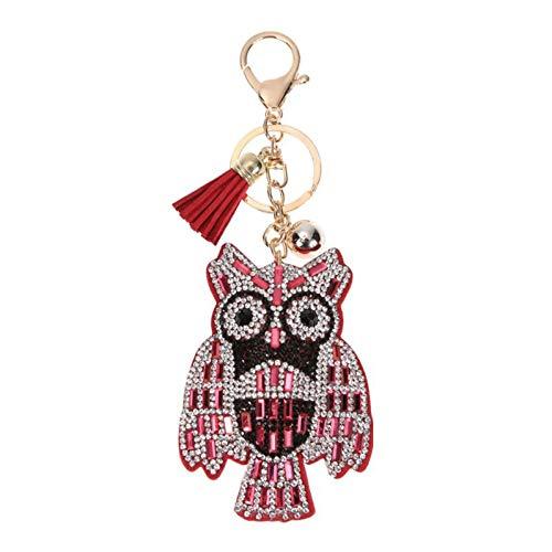LAIGESHADIAO sleutelhanger mooie dier sleutelhangers sleutelhanger mode mooie dier vogel metaal kristal portemonnee tas handtas hanger sleutelhangers cadeau voor vrouwen