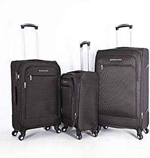 جيوردانو طقم حقائب سفر ناعمة بـ 4 عجلات - مجموعة من 3 قطع