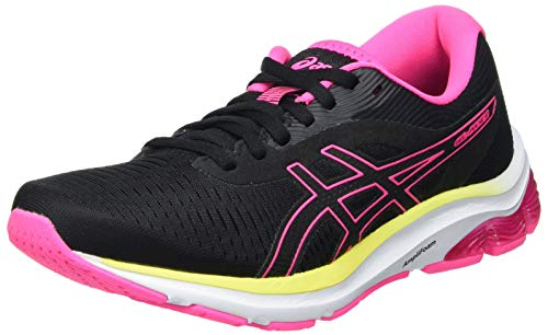 Asics Gel-Pulse 12, Road Running Shoe Mujer, Black/Hot Pink, 39.5 EU