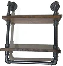 Double Pipe Shelf with Towel Bar
