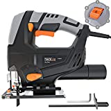 TACKLIFE Classic 5.0 Amp 3000SPM Jigsaw, Variable Speed, Tool-free Blade Changing, Lightweight Design, 10 Feet Cord, Pure Copper Motor - PJS03A