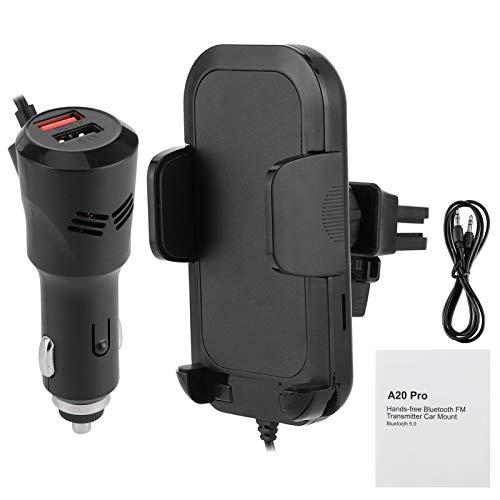 Cargador, Zaraddia Receptor Soporte Receptor Bluetooth para automóvil Reproductor de música MP3 Transmisor FM Multifuncional Cargador USB Dual con Soporte