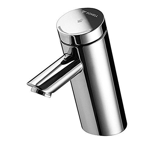 SCHELL 021250699 Selbstschluss-Waschtischarmatur / Waschtisch-Armatur PURIS SC HD-M (Hochdruck Mischwasser) , vandalengeschützte Ganzmetallausführung , manuelle Auslösung, Laufzeiteinstellung