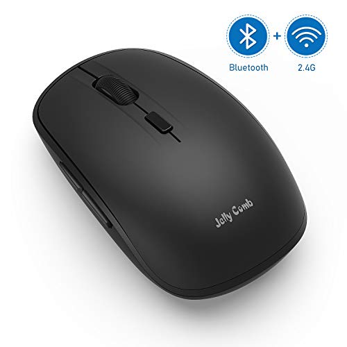 Bluetooth Mouse Jelly Comb MS023 Wireless Dual Mode Bluetooth 40  USB Computer Mice 3 Adjustable DPI Levels 6 Buttons Compatible for Windows/iPad/iPhone/Mac OS/Android