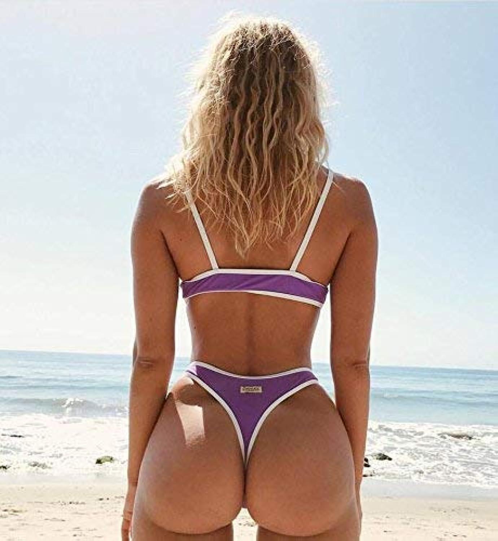 FuweiEncore Bikini DREI DREI DREI Punkte Mode Badeanzug, S, Lila (Farbe   -, Größe   -) B07MC64X2P  Hohe Sicherheit 2ee6a1