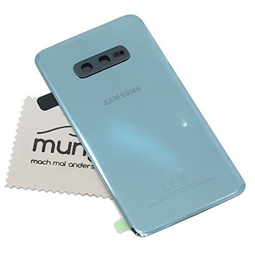 Tapa de batería para Samsung Original para Samsung Galaxy S10e G970F Verde con mungoo Pantalla paño de Limpieza