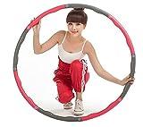 Schneespitze Hula Hoop, Hoola Hoop para Adultos para Bajar de Peso y masajes, Un Hoola Hoop Desmontable de para Fitness/Entrenamiento o contornos de los músculos Abdominales