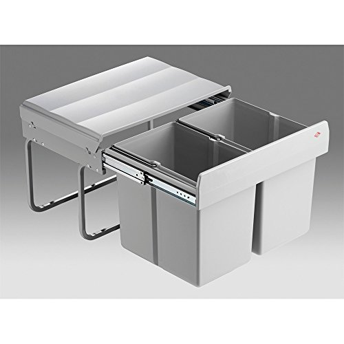 WESCO 757411-85 Abfallsorter 30 Liter (2 x 15) Liter DOUBLE SHORTY ab 50 cm Schrankbreite
