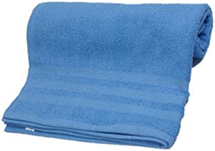Skumars Love Touch Solid 310 GSM Cotton Bath Towel - Blue