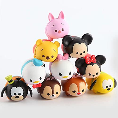 CYSJ 10 Pezzi Mickey Cake Topper Mini Figurine Mini Giocattoli per Bambini e Baby Shower Forniture per la Decorazione della Torta della Festa di Compleanno
