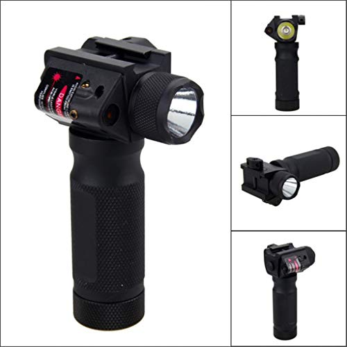 Red Dot Modified Exterior Flashlight Handle Glare For 21mm Guide Rail