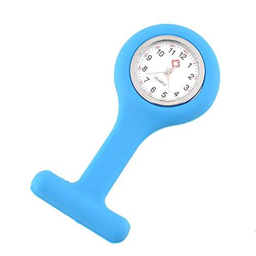 outletissimo Reloj Médico Enfermero enfermera Azul de silicona con imperdible de imperdibles