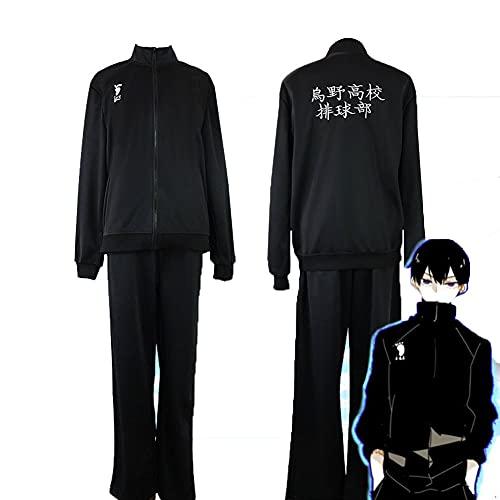 Haikyuu!! Hinata Shoyo Cosplay Disfraz de escuela secundaria de voleibol Club Uniforme, traje diario ropa deportiva chaqueta pantalones traje, Hinata Shoyo, XXL