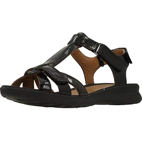 Clarks Un Adorn Vibe Patent Sandals in Standard Fit Size 5 Black