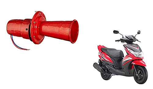 Autocraze Loud Hooter Dog Horn Red for Yamaha Ray Z
