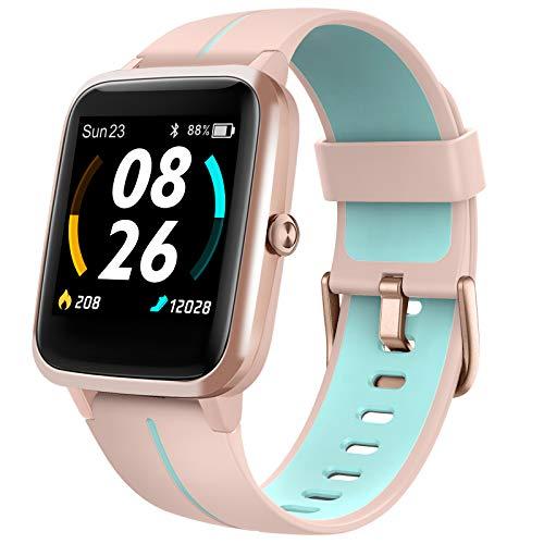 LIFEBEE Smartwatch, Orologio Fitness Uomo Donna con GPS, Smart Watch con previsioni del Tempo, Cardiofrequenzimetro da Polso Impermeabile IP68, Activity Tracker Contapassi Cronometro per Android iOS