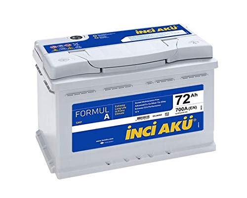 Batería de coche original INCI AKU Silver GS Yuasa 12 V 72 Ah 700 A (EN)