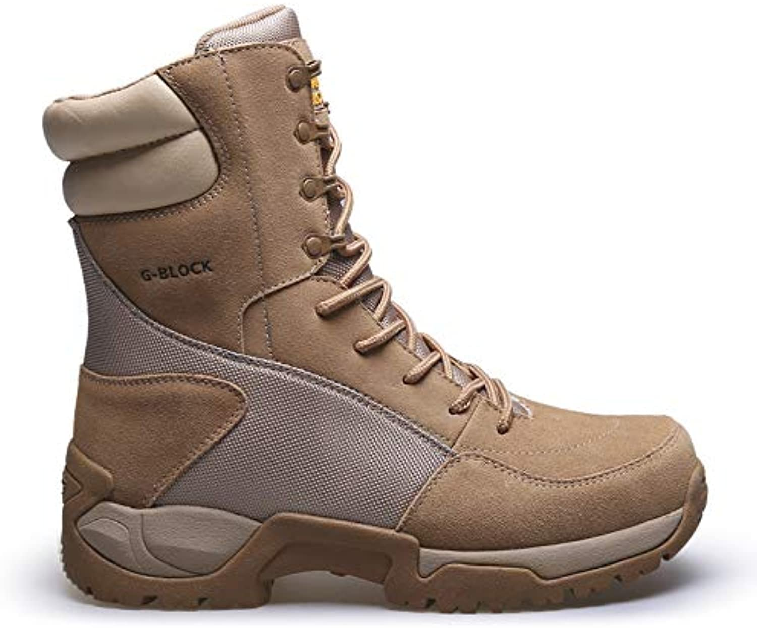 HCBYJ shoes Desert combat boots PU military boots camp tactical boots desert combat boots male commando