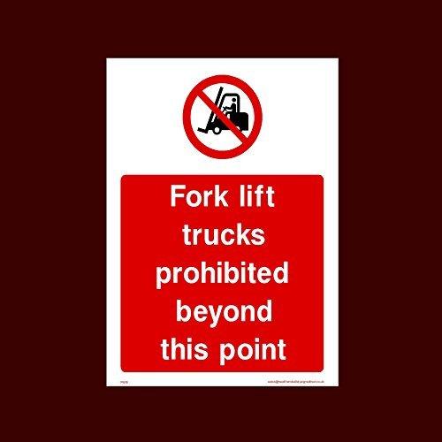 Heftruck verboden voorbij dit punt sticker teken grappige waarschuwing stickers voor eigendom, veiligheid teken sticker etiketten, zelfklevende Vinyl Decal