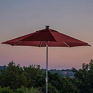 ProShade 10' LED Solar Auto Tilt Aluminum Umbrella