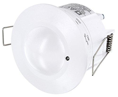 Einbau HF Bewegungsmelder 360° mit Dämmerungssensor - Radar HF 5,8GHz - SENS TIME LUX einstellbar - LED geeignet - 1W-1200W 230V