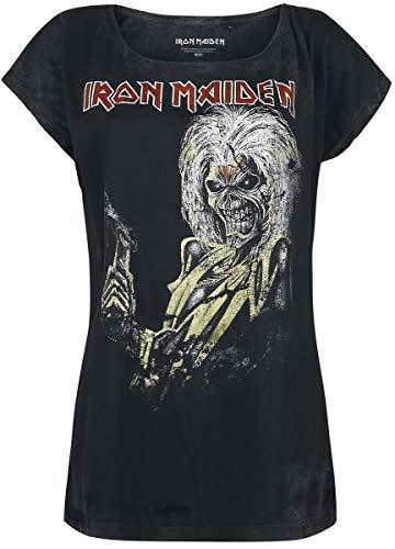 Iron Maiden Killers Magic Day Donna T-Shirt Nero/Effetto usurato S 100% Cotone Regular