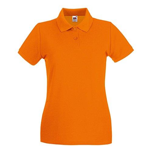 Fruit of the Loom Premium Polo Lady-Fit - Farbe: Orange - Größe: XL