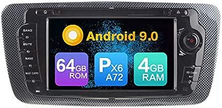 Android 9.0 PX6 Cortex A72 4G Ram 64G ROM Autoradio GPS Navigation DVD Radio Steering Wheel Control Mirror Link North America Map Bluetooth WiFi Headunit for Seat Ibiza 2009 2010 2011 2012 2013