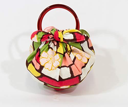 むす美 綿モダンガールいちごバッグ(リング付)【袋入】さくら マルチ