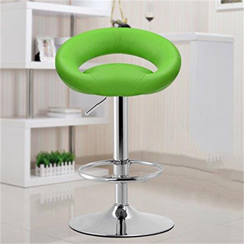 Tabouret en bois Bar tabouret bar chaise réception caissier haute tabouret mode simple style européen pivotant tabouret de bar/vert, rouge (Couleur : Vert)