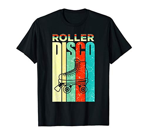Rollschuhe Disco Inline Skating Rollschuhlaufen Geschenk T-Shirt