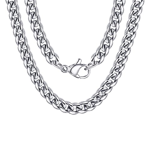 High Polished 11MM 18 Inches Curb Chain Stainless Steel Link Necklace Jewelry for Men Women
