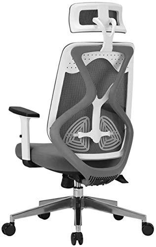 FTFTO Equipo Diario Sillas de Oficina Tono Blanco y Negro Silla de Oficina ergonómica Simple y cómoda para computadora (Color: B)