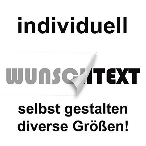 Wunschtext Aufkleber hier selbst gestalten - Länge ab 10cm bis 150cm (070 schwarz)