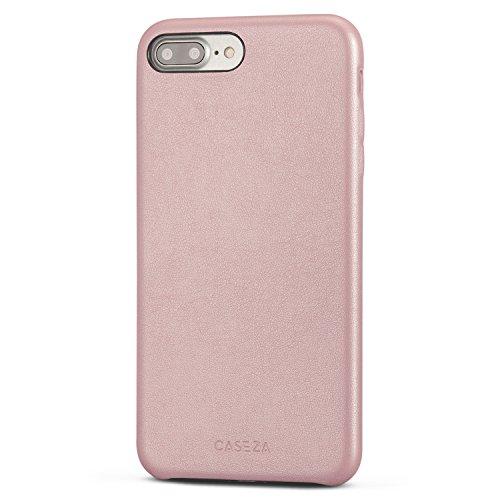 CASEZA Cover iPhone 8 Plus/Cover iPhone 7 Plus Oro Rosa Rome Case in Pelle PU Custodia Posteriore Pelle Vegana per Apple iPhone 8 Plus & 7 Plus (5.5') - Protezione Completa Ultra Sottile