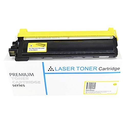 XIGU Cartucho de tóner compatible para Brother TN210 para impresora Brother MFC-9010CN 9012CN 9320 HL-3070CW 3040CN, impresión suave de alta resolución, amarillo