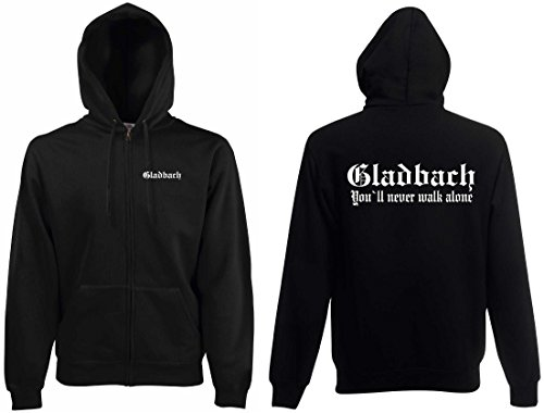world-of-shirt Herren Kapuzenjacke Gladbach Ultras