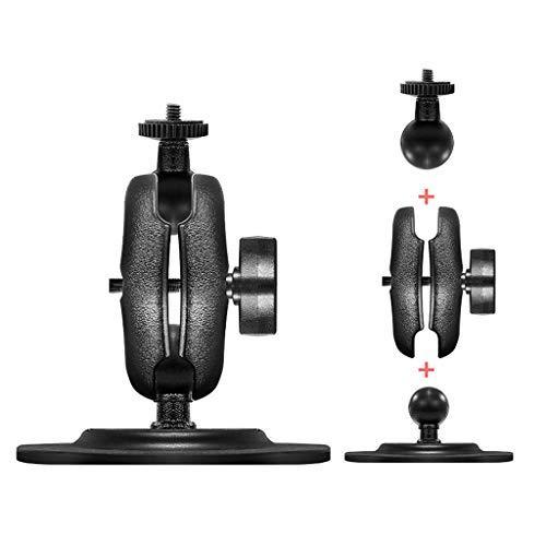 Yushu 1 Unidades de soporte de bicicleta para manillar de motocicleta con cabeza de bola de 1 pulgada para Go-pro (tipo de artículo: base de montaje, material: metal+ABS+goma, color: negro)