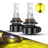 SEALIGHT 9006 LED Fog Light Bulbs, 3000K Yellow 4000 Lumens 12W High Power,9006 HB4 LED Fog Light DRL Bulbs Replacement For Cars,Trucks(Pack of 2)