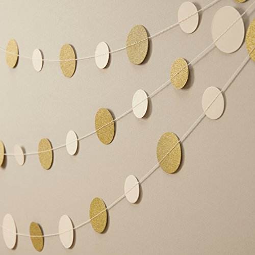 Metallic Perfection | Konfetti Girlande creme gold
