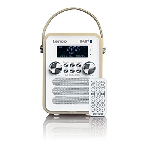 Lenco Vintage Digitalradio DAB+ PDR-050 mit Bluetooth , PLL FM-Radio und RDS/LCD Display Beige