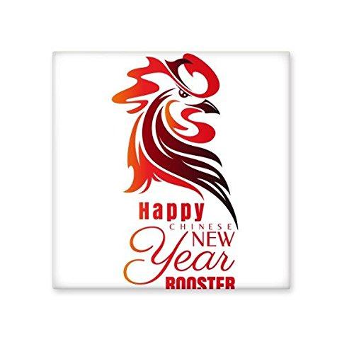 Chinese sterrenbeeld Gelukkig Nieuwjaar 2017 Jaar van de Haan Patroon Illustratie Keramische Bisque Tegels voor het verfraaien Badkamer Decor Keuken Keramische Tegels Wandtegels S