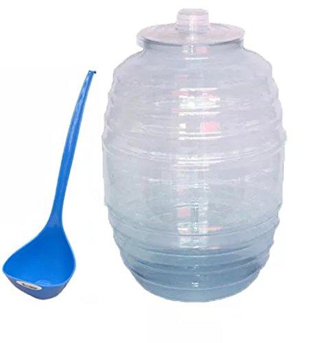 Barril Vitrolero para Agua de Plástico 22 Litros con cucharon