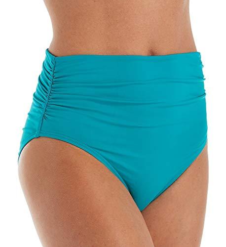 Coco Reef Women's Impulse Rollover Bikini Bottom, Dark Turquoise 442, Medium