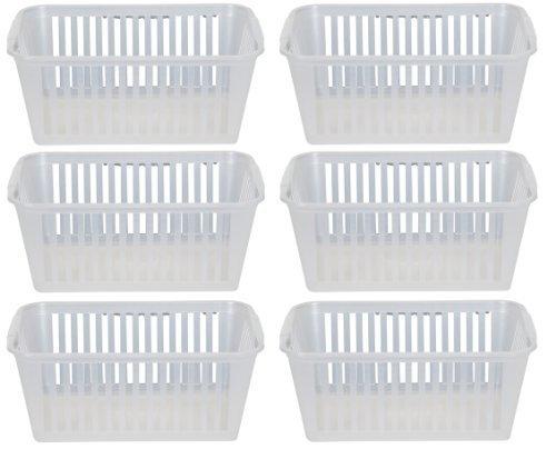 30cm Clear Plastic Handy Basket Storage Basket - Set Of 6 by Whitefurze