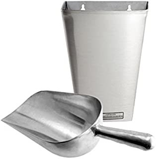 Ice or Grain Scoop and Scoop Holder Set - 12 Ounce