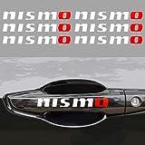 HANBAO Nismo Wheel Decals or Car Door Sticker Personality Sticker Creative Decals Replacement for Nissan Rogue Sport Altima Sentra Maxima Versa Sedan 370Z GT-R Coupe NV Passenger Van(6-Pcs) (White)