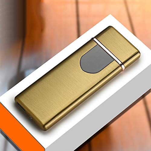 ZSAIMD Aufladen Feuerzeug Touch Induktion Winddicht Elektronisch Ultradünne USB Zigarettenanzünder Benutzerdefinierte Metall Tragbare Smart Fingerprint Sensor Zündwerkzeug Perfekt für Zigarettenrauche