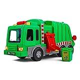 Juguete de camión de Basura Playkidiz Kids de 15' con Luces, Sonidos y Tapa de Basura , Juego de Aprendizaje temprano para niños, Caja Fuerte para Interiores y Exteriores, plástico de Servicio Pesado